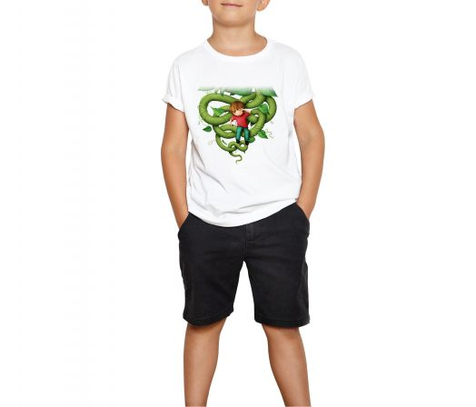 Colored children's T-shirt Jack and the Beanstalk