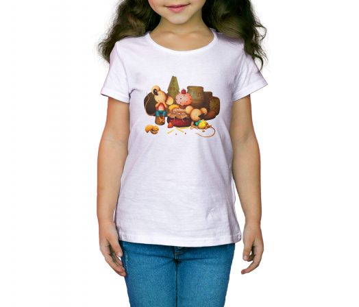 Colored children's T-shirt The Town Mouse and the Country Mouse